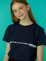 Your name Here(ユアネームヒア) Tシャツ・カットソー 【YourNameHere】Line T-Shirt (White / Navy)