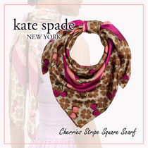 【国内発送】Cherries Stripe Square Scarf セール