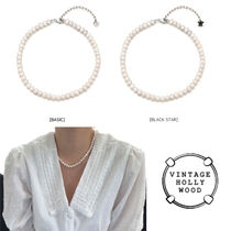 ★BLACKPINK★VINTAGE HOLLYWOOD★NATURAL PEARL NECKLACE_2TYPE
