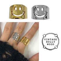 ★人氣★VINTAGE HOLLYWOOD★SMILE OPEN RING_2色