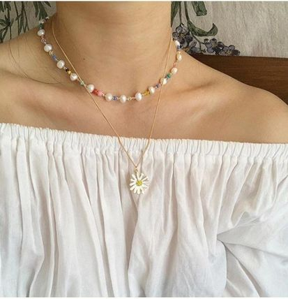 VINTAGE HOLLYWOOD ネックレス・ペンダント 韓国『VINTAGE HOLLYWOOD』Daisy Necklace 2色(4)