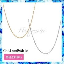 Chained & Able(チェーンドアンドエイブル) ネックレス・チョーカー Chained & Able ロープチェーン ネックレス 2色〇関税送料無料〇