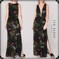TED BAKER★FLISSS Highland deep V maxi cover up リゾート