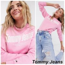 Tommy Jeansフロントロゴ スウェット ピンク