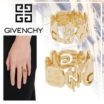 【GIVENCHY】正規店★新着★GIVENCHY ロゴ ゴールド リング