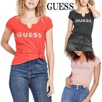GUESS*HOLLY CRUSH EMBELLISHED LOGO*ロゴTシャツ♪
