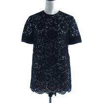 VALENTINO::CREPE COUTURE AND HEAVY LACE TOP:38[RESALE]