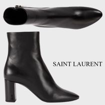 SAINT LAURENT  LOU ANKLE BOOTS IN SMOOTH LEATHER