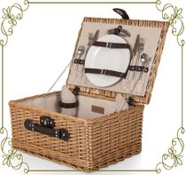 【West Elm First Class Picnic Basket】 アウトドア等もお勧め