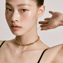[ FIND KAPOOR ] Chain Line Cubic Point Gold Necklace