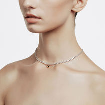 [ FIND KAPOOR ] Cubic Line Gold Heart Chain Silver Necklace