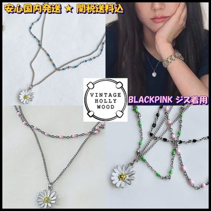 VINTAGE HOLLYWOOD ネックレス・ペンダント 国内発送[VINTAGE HOLLYWOOD]Color Dot Seed+Daisy Necklace SET