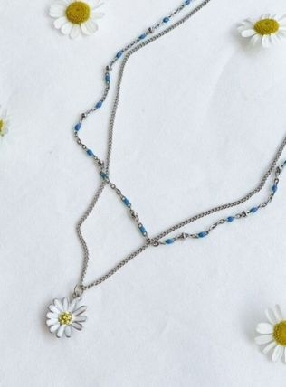 VINTAGE HOLLYWOOD ネックレス・ペンダント 国内発送[VINTAGE HOLLYWOOD]Color Dot Seed+Daisy Necklace SET(2)