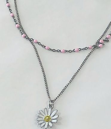 VINTAGE HOLLYWOOD ネックレス・ペンダント 国内発送[VINTAGE HOLLYWOOD]Color Dot Seed+Daisy Necklace SET(3)