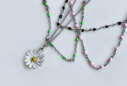 VINTAGE HOLLYWOOD ネックレス・ペンダント 国内発送[VINTAGE HOLLYWOOD]Color Dot Seed+Daisy Necklace SET(4)