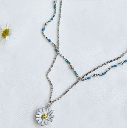 VINTAGE HOLLYWOOD ネックレス・ペンダント 国内発送[VINTAGE HOLLYWOOD]Color Dot Seed+Daisy Necklace SET(7)