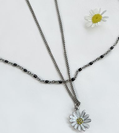 VINTAGE HOLLYWOOD ネックレス・ペンダント 国内発送[VINTAGE HOLLYWOOD]Color Dot Seed+Daisy Necklace SET(8)