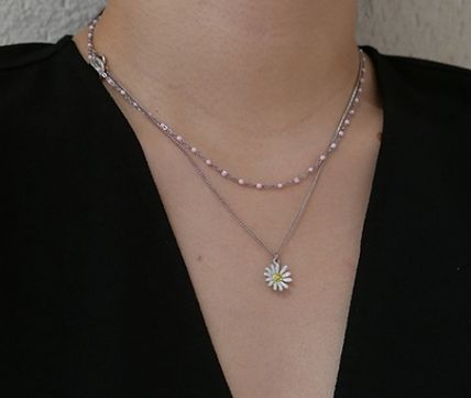 VINTAGE HOLLYWOOD ネックレス・ペンダント 国内発送[VINTAGE HOLLYWOOD]Color Dot Seed+Daisy Necklace SET(11)
