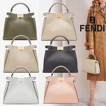 FENDI☆PEEKABOO ICONIC ESSENTIALLY☆レザー2wayバッグ☆送料込