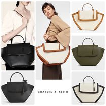 ★CHARLES&KEITH★Large Trapeze Top Handle Bag/送料込