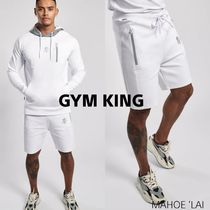 GYM KING MILES HOODIE & MILES SHORT セットアップ WHITE