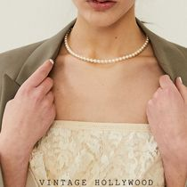 Vintage hollywood★韓国アイドル人気 Classic Pearl Necklace