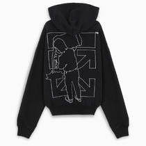 OFF-WHITE --- BARREL WORKER OVER HOODIE BLACK パーカー 黒