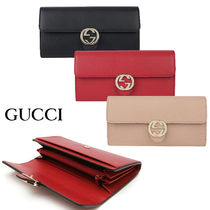 関税負担なし☆GUCCI GG Interlocking Wallet GG長財布 598166