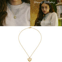Vintage hollywood★韓国アイドル人気 Heart Button Necklace