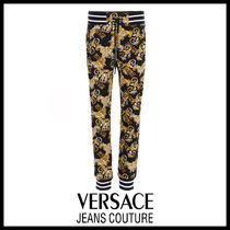 【Versace Jeans Couture】バロックプリント ジョガーパンツ