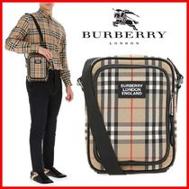 ☆Burberry☆Vintage Check and Leather Crossbody Bag☆正規品