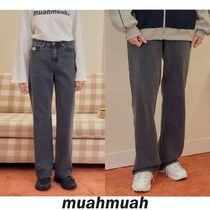 【muahmuah】20F/W Point Relax Fit Black Jean