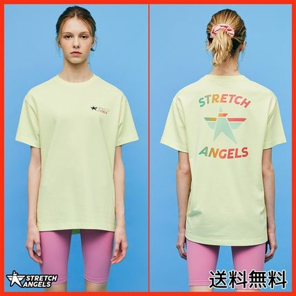 [STRETCHANGELS] Simple logo loose fit T(L/yellow)