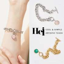 韓国発【Hei】gemstone toggle bracelet☆追跡付