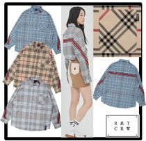 ☆送料・関税込☆ROMANTIC CROWN★BACK LINE CHECK SHIRT★3色