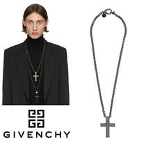 GIVENCHY  Thick 2G クロス ネックレス x ブラック♪