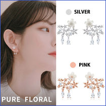 Wing bling☆韓国人気☆ PURE FLORAL  ピアス/イヤリング_2色