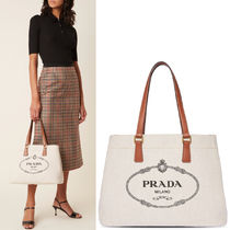 PR2397 LINEN BLEND AND LEATHER TOTE