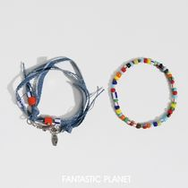 韓国人気★FANTASTIC PLANET★unisex denim bracelet 2set