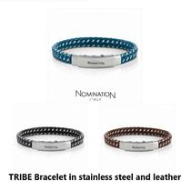 【Nomination】TRIBE Bracelet in stainless steel and leather