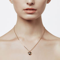 [ FIND KAPOOR ] Heart Line Volume Pendant Gold Necklace