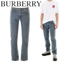 BURBERRY DISTRESSED STRAIGHT LEG JEANS