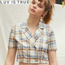 ★LUVISTRUE★LU CHECK TWO PIECES JACKET(IVORY)★正規品/人気