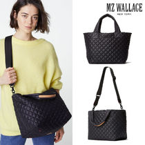 MZ WALLACE(エムジーウォレス) トートバッグ MZ WALLACE★超軽量!2WAYトート♪SMALL METRO TOTE DELUXE 黒