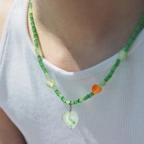 韓国人気★FANTASTIC PLANET★sunny green necklace