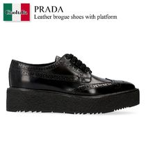 Prada Leather brogue shoes with platform