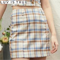 ★LUVISTRUE★LU CHECK TWO PIECES SKIRT(IVORY)★正規品/送料込