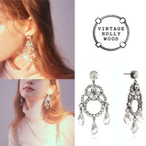 ★VINTAGE HOLLYWOOD★DRAMATIC HOLIDAY CHANDELIER EARRING