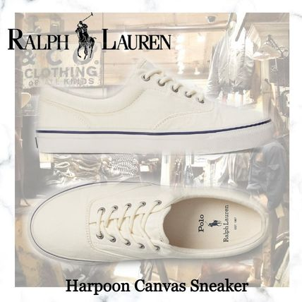 完売必須!!POLO RALPH LAUREN-Harpoon Canvas Sneaker