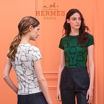 """20-21AW<HERMES>""""Square Projects"""" マイクロプリント Tシャツ"""